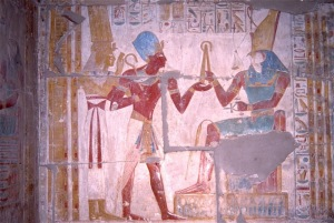 Seti I, Isis and Horus, Abydos
